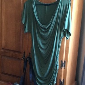 Green long tunic—also available in rust